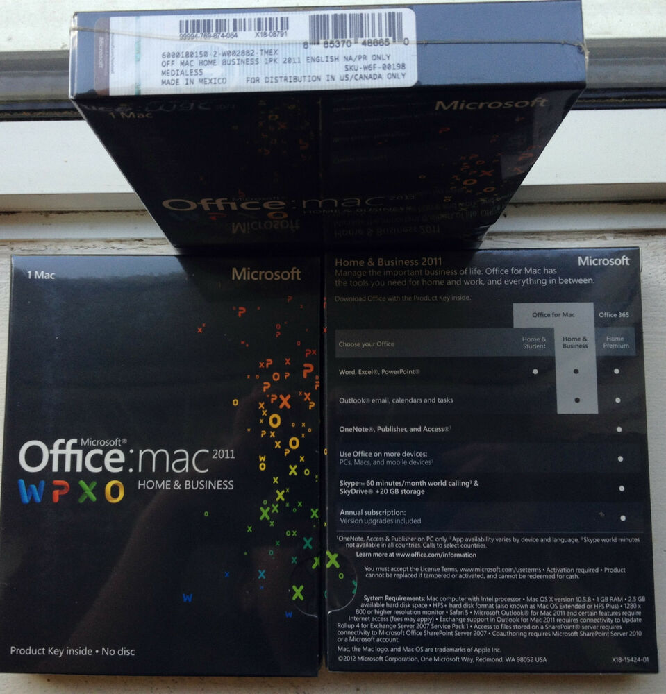 Microsoft office mac home business 2011 sku w6f 00198 sealed full retail license 4002888460088 - How to get office for mac ...