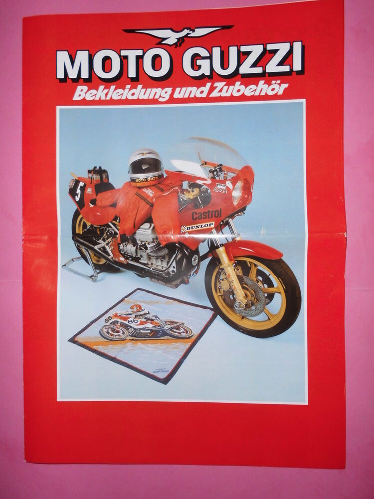 sales brochures motorrad original prospekt moto guzzi. Black Bedroom Furniture Sets. Home Design Ideas
