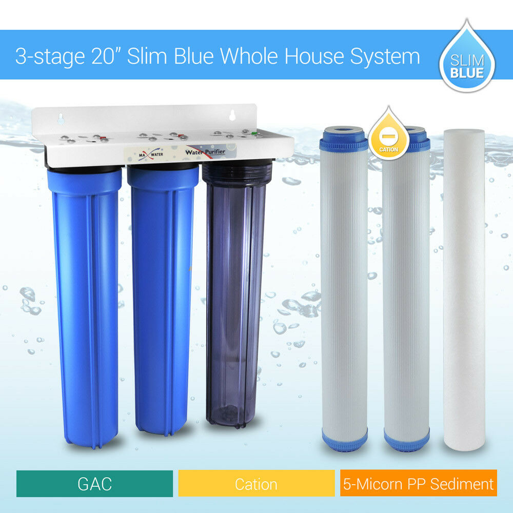 3 Stage 20 Quot Whole House Water Filter Softening Softener