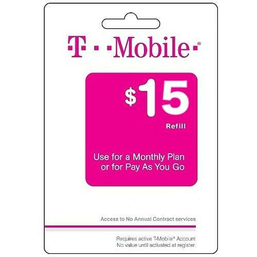 T mobile pay as you go phone refill card 15 ebay for T mobile refill