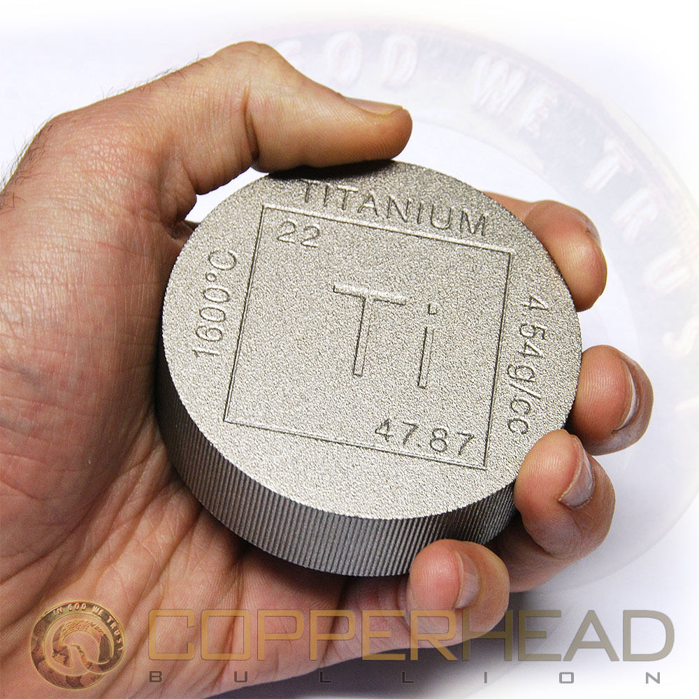 One Pound 16oz Titanium Coin Element Design 999 Fine