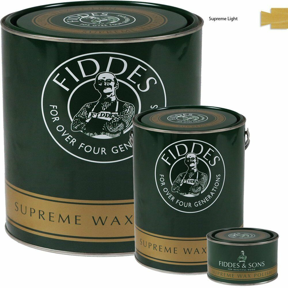 Fiddes supreme light clear wood wax polish restorer for for Furniture wax