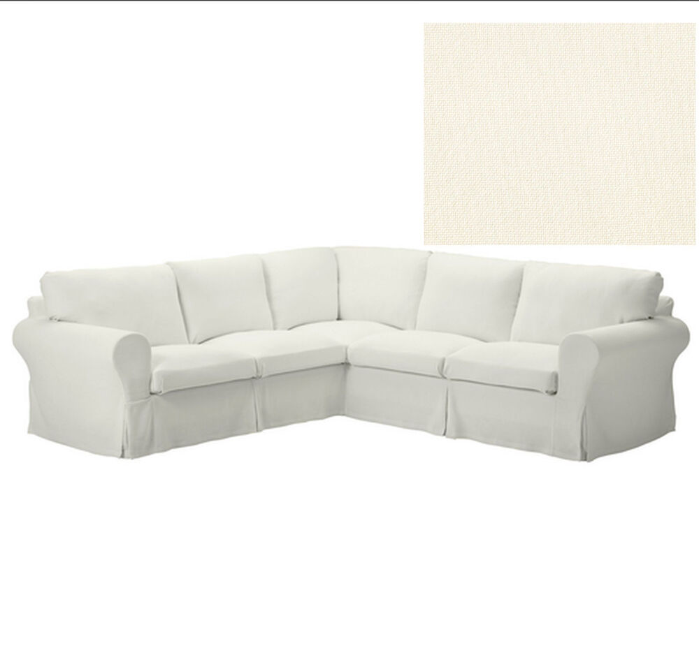 ikea ektorp corner sofa slipcover 2 2 cover idemo black 4 seat sectional cover ebay. Black Bedroom Furniture Sets. Home Design Ideas