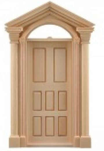 DOLLS HOUSE WOODEN EXTERIOR DOOR FRAME 5024 192 X 78 Mm HOLE SIZE 1 12