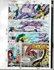 1991 Avengers 328 page 6 Marvel Comics color guide art:Thor/She-Hulk/Rage/1990's