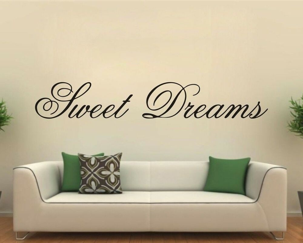 sweet dreams bedroom wall sticker vinyl decal sticker wall sweet dreams wall stickers by nutmeg notonthehighstreet com
