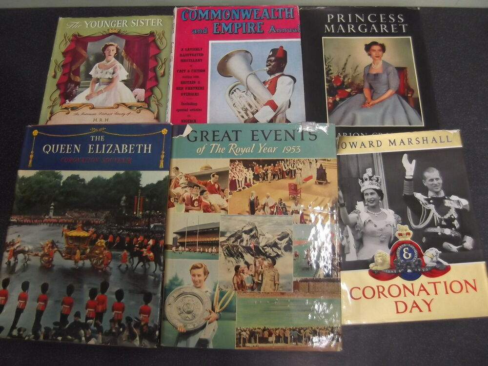 Set Of 6 Royalty Books From 1950s Uk Freepost Hadbacks With