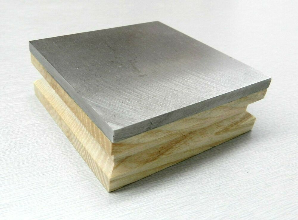 Bench Block Steel And Wood Base 3 Quot Square 1 Quot Thick Flat