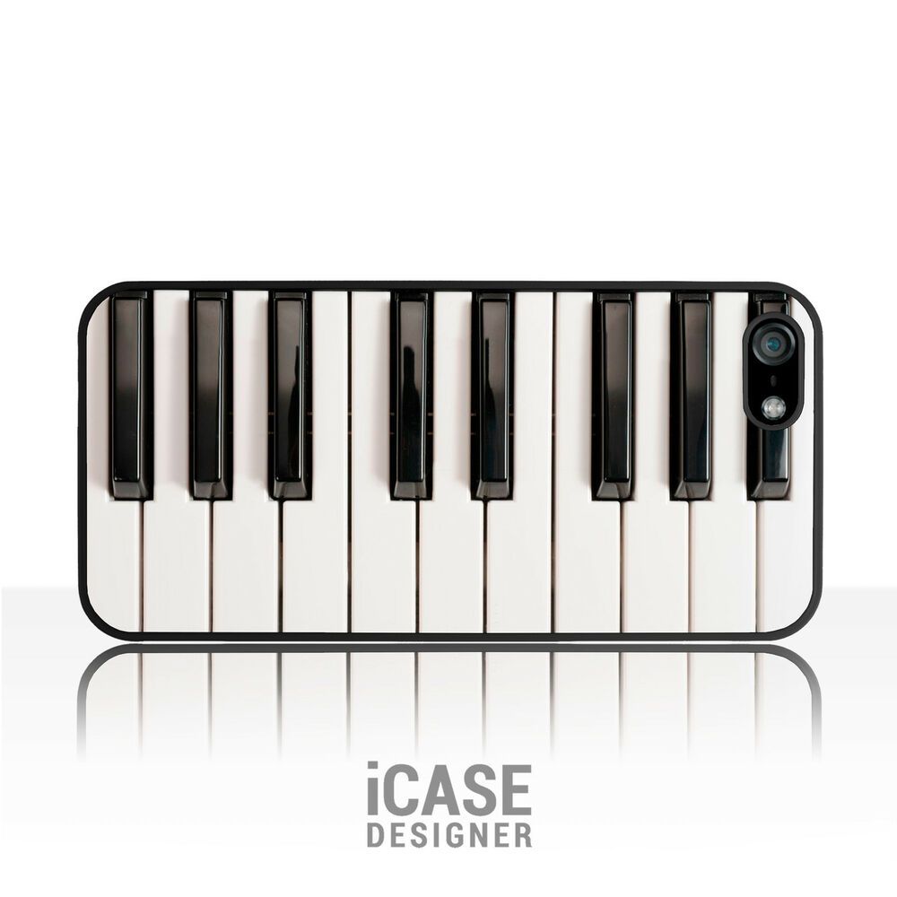 piano keys phone case music keyboard cover for iphone 4 4s 5 5s 5c ipod touch ebay. Black Bedroom Furniture Sets. Home Design Ideas