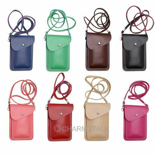 2 layer pu leather cell phone cover carry bag pouch