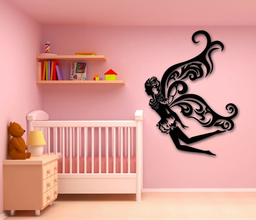 Wall stickers vinyl decal fairy tale for kids room nursery for Wall decals kids room