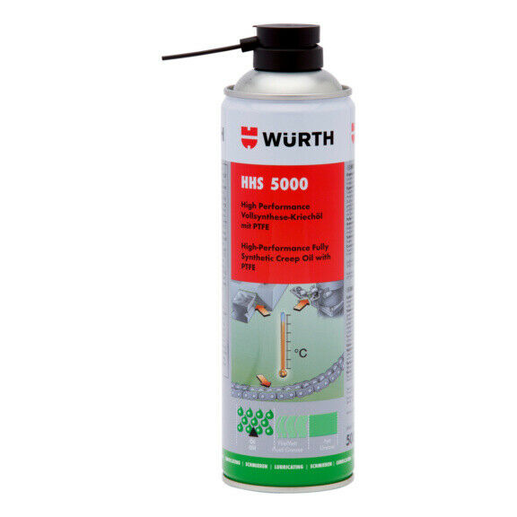wurth hhs 5000 creep oil lubricant spray ebay. Black Bedroom Furniture Sets. Home Design Ideas