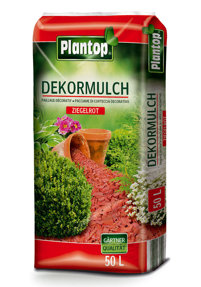 dekormulch 50 liter ziegelrot neu garten deko mulch rot. Black Bedroom Furniture Sets. Home Design Ideas