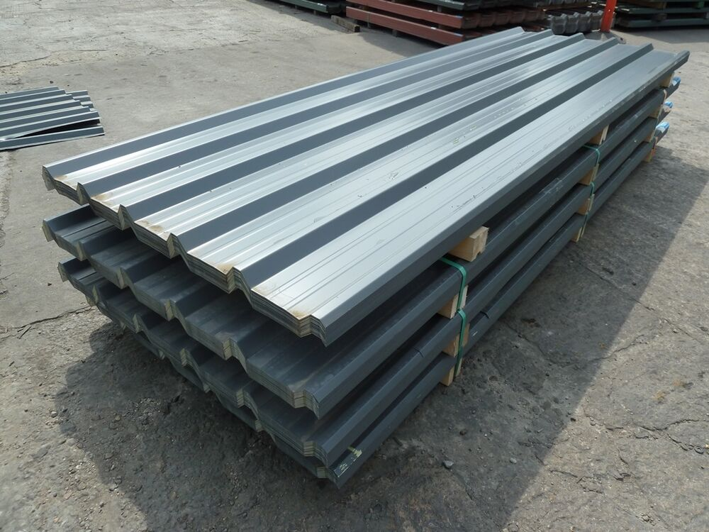 Metal Box Profile Roofing Sheets Slate Grey Cheap New