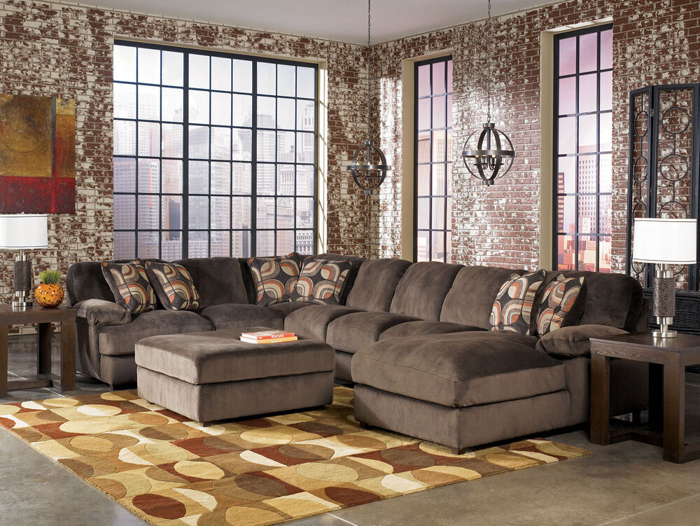 Cosmo 4pcs Modern Oversized Cafe Microfiber Sofa Couch Sectional Set Living Room Ebay
