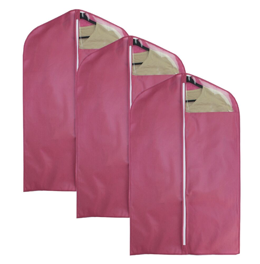 New Garment Suit Dress Storage Bag Clothes Cover 3 Pack Ebay