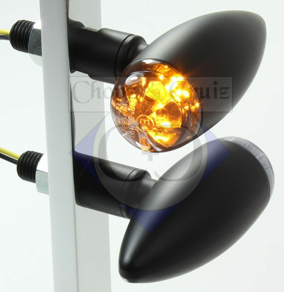 blinker motorrad led micro bullet schwarz ebay. Black Bedroom Furniture Sets. Home Design Ideas