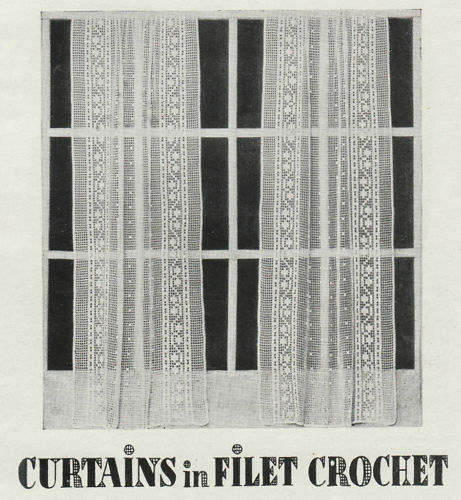 How To Make Crochet Lace Curtains Vintage Visage 1930s
