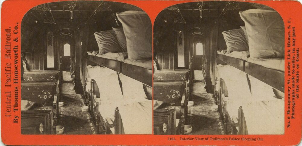 thomas houseworth co stereoview pullman palace woodstock car interior 1860 39 s ebay. Black Bedroom Furniture Sets. Home Design Ideas