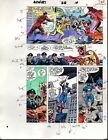 Original 1989 Avengers 312 Marvel Comics color guide art: Captain America/1980's