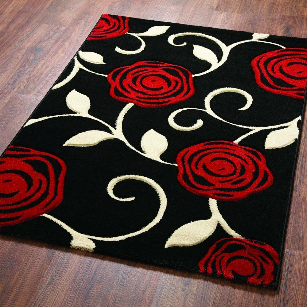 New modern extra large small cheap quality red rose for Cheap good quality rugs