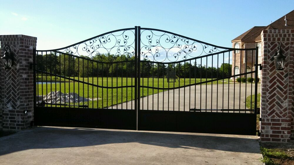 Wrought iron custom ornamental estate gate ebay