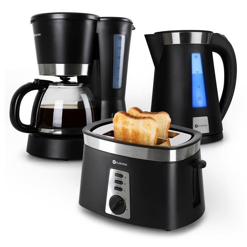 morning breakfast kitchen set bundle black toaster kettle. Black Bedroom Furniture Sets. Home Design Ideas