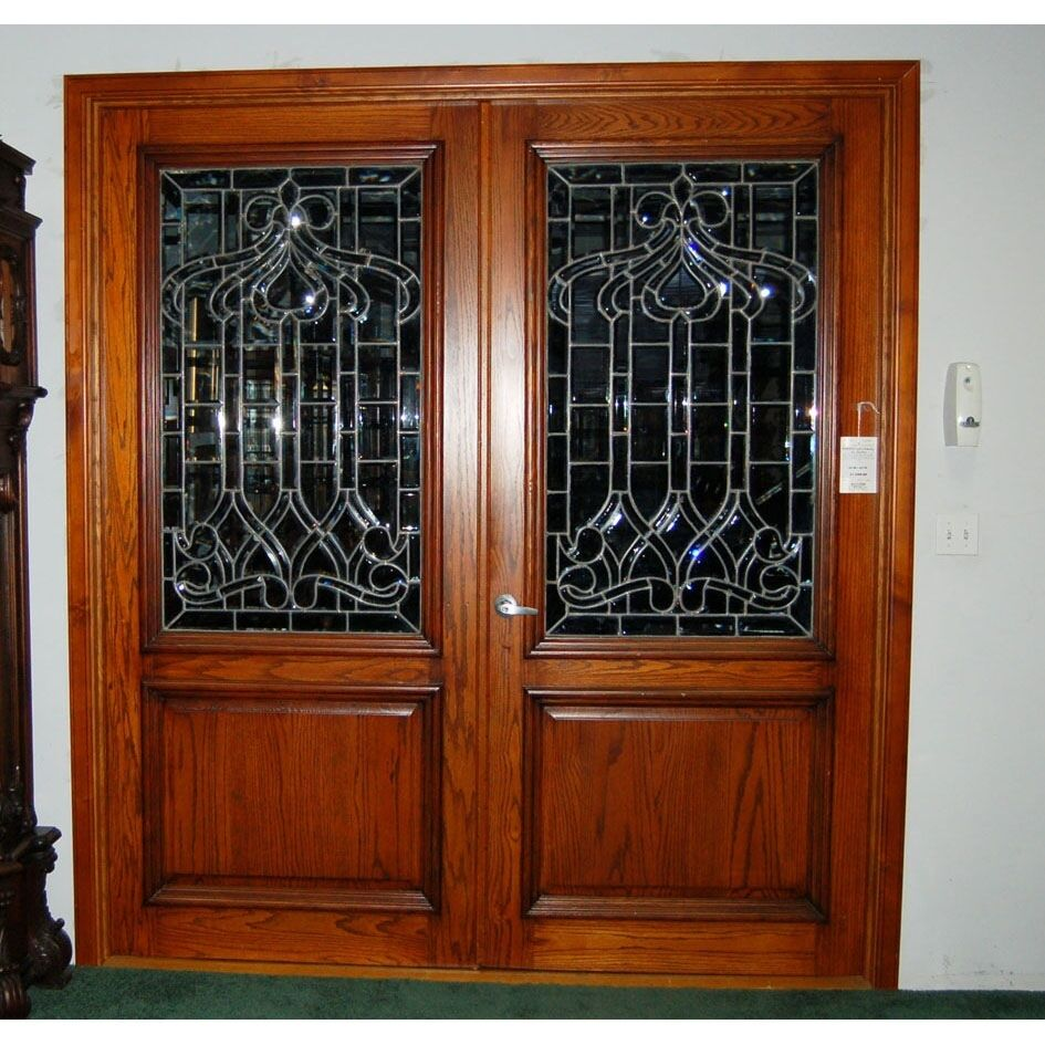 Leaded Glass Doors : Pair of leaded glass entry door ebay
