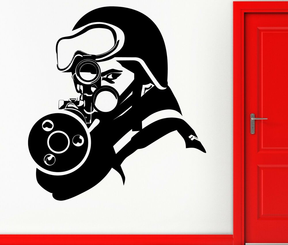 Wall Sticker Vinyl Decal Sniper Shooter Military Army