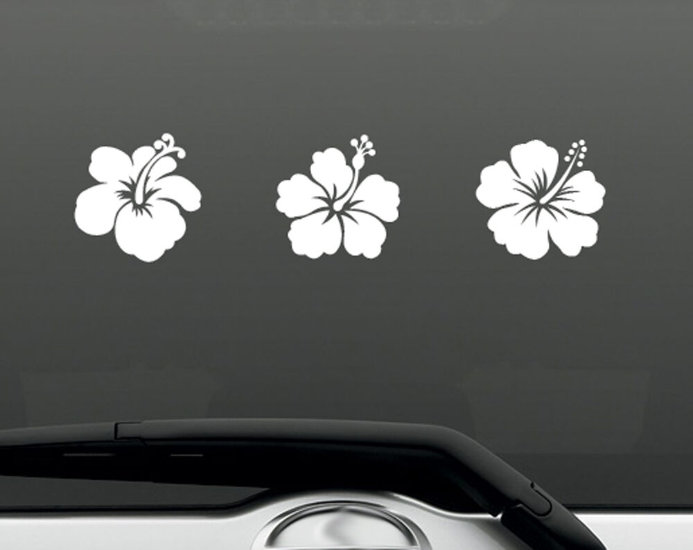 Vinyl Wall Decal Sticker Hibiscus Flowers OSAA238s ...