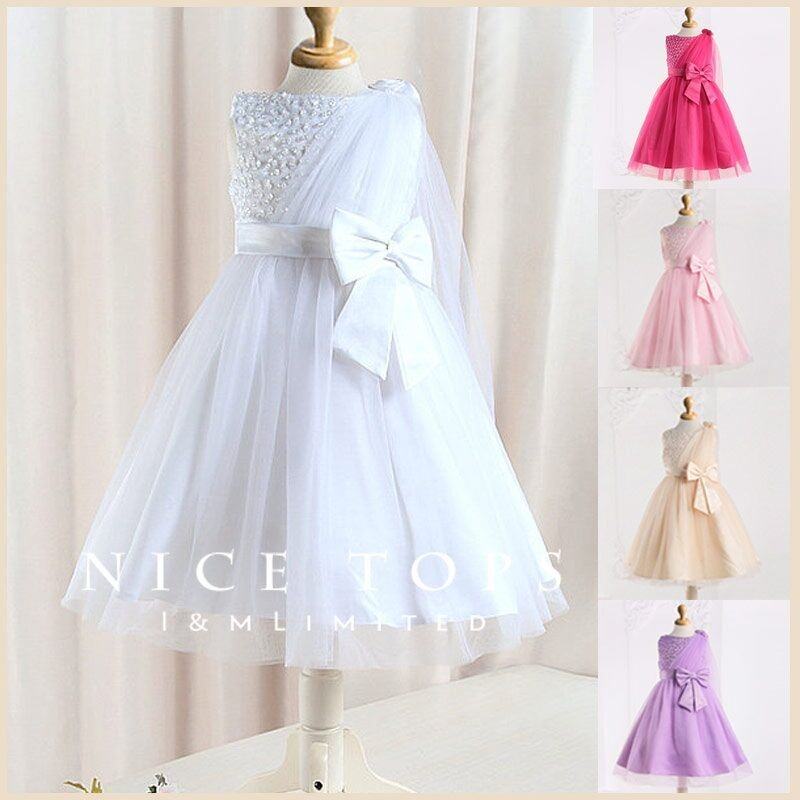 #W8910 Whites Christening Flower Girls Dresses SIZE 2T 3T