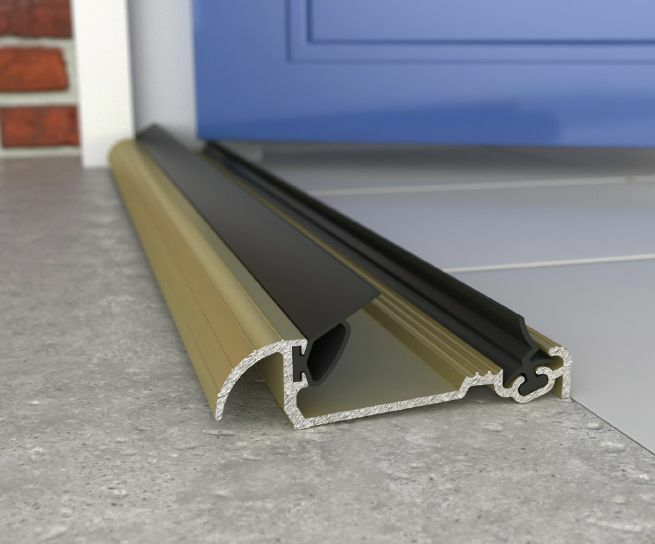 Threshold door draught excluder metal cill sill aluminium for Door draught excluder
