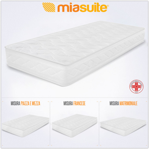 MATERASSO H 10 CM WATERFOAM IN POLIURETANO ORTOPEDICO ANTIACARO ANALLERGICO