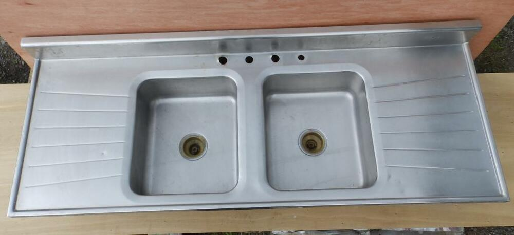 Vintage Industrial Stainless Steel Sink Restaurant Kitchen