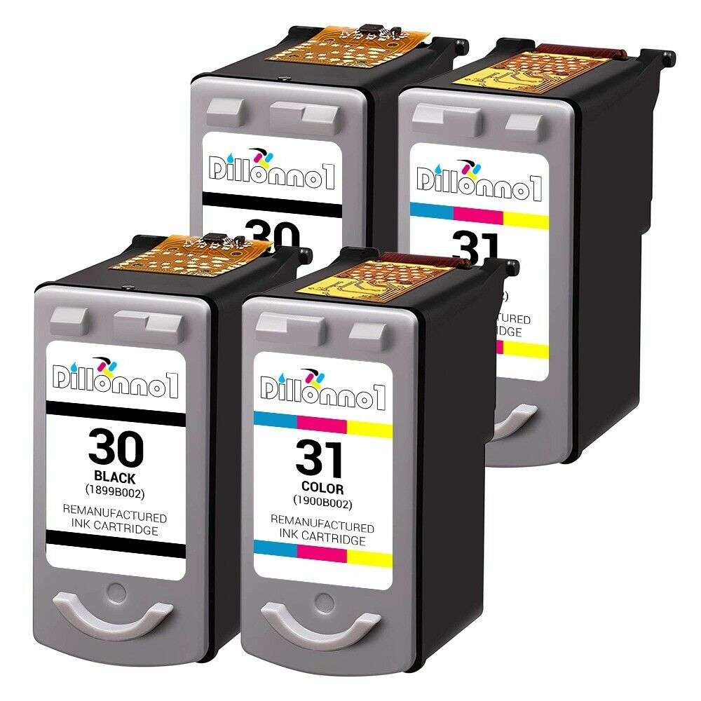 4 pk for canon pg30 cl31 b c cartridge combo for pixma mp140 mp190 mp210 mp470 ebay. Black Bedroom Furniture Sets. Home Design Ideas