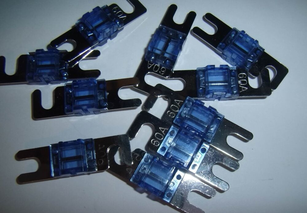 2 60 Amp Mini Anl Fuses For Car Audio Power Wire Adding An Amplifier Car Audio