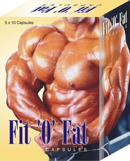 2 X Fit-O-Fat - 50 Capsule / Pack - Weight Muscle Gain