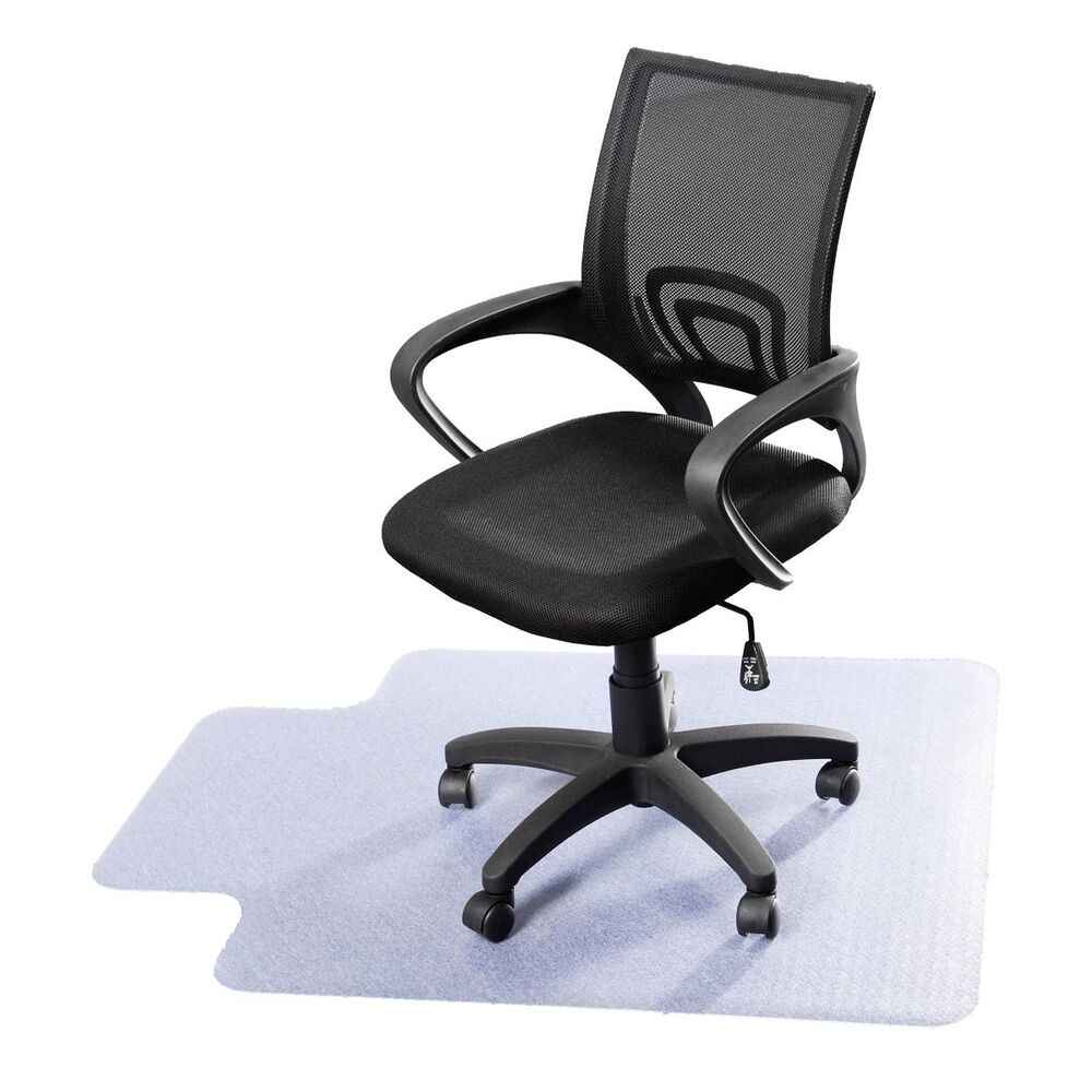 48 x 36 pvc home office chair floor mat for wood tile thick new ebay. Black Bedroom Furniture Sets. Home Design Ideas