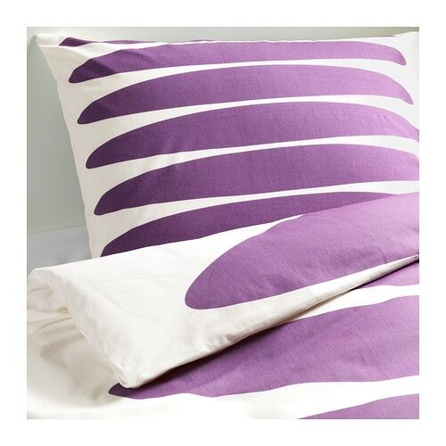 New ikea papaver oval 3 piece full queen quilt duvet for Ikea bed covers sets queen
