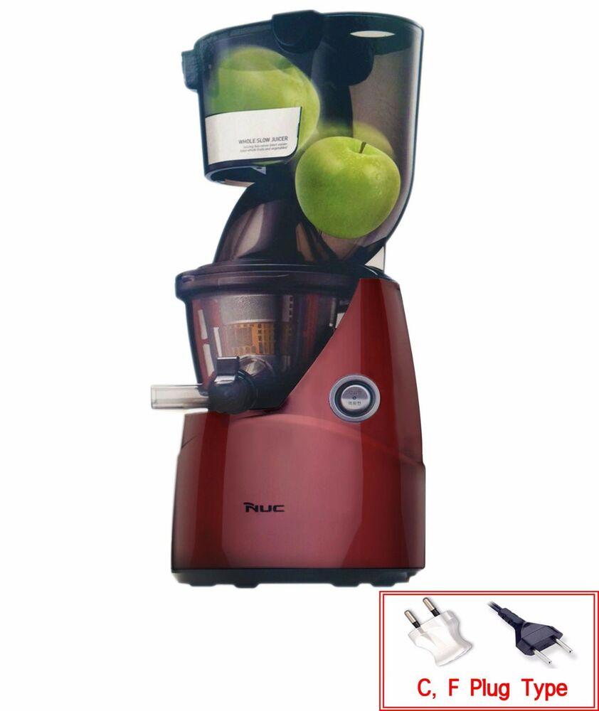 Slow Juicer Vs Whole Fruit : NUC Kuvings Whole Mouth Slow Fruit Juicer KJ-622R Juice Extractor (B6000PR) NEW! eBay