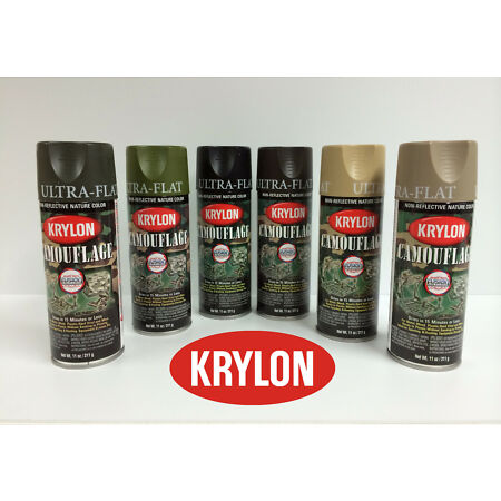 img-Krylon Camouflage Spray Paint - Set of 4 cans only - Black and choice of 3 other