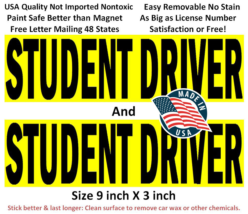 It's just a graphic of Accomplished Student Driver Sign Printable
