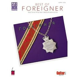 The Best of Foreigner Sheet Music Guitar Tablature Songbook NEW 002500198
