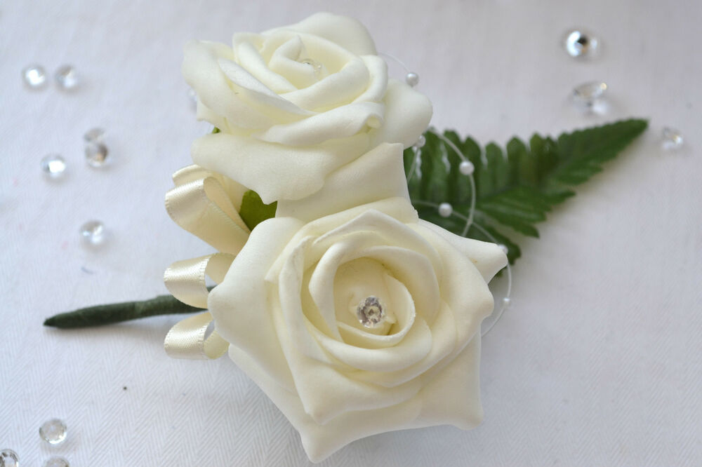 Beautiful Double Buttonholes Ladies Corsage Flowers Groom