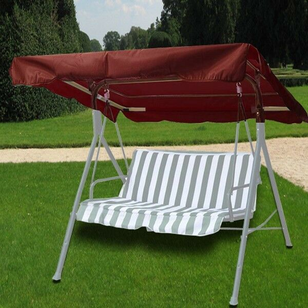 New Deluxe Outdoor Swing Canopy Replacement Top Cover Seat Patio Nutmeg Brown