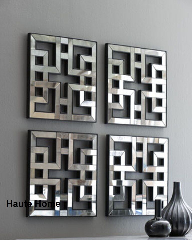 new horchow four fretwork mirrors set wall mirror decor. Black Bedroom Furniture Sets. Home Design Ideas