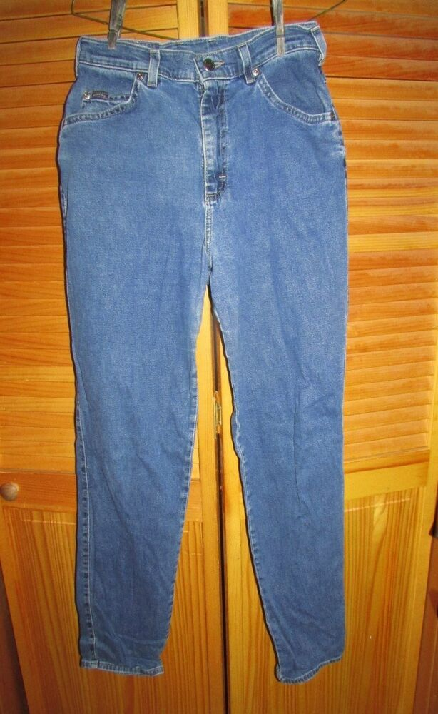 riders womens size 8 blue jeans w 28 l 32 hip 42 rise 11 skinny legs euc ebay. Black Bedroom Furniture Sets. Home Design Ideas