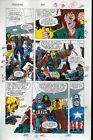 1991 Avengers 329 Marvel color guide art:Captain America/She-Hulk/Spiderman/Thor