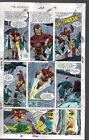 Original 1990 Marvel Avengers 325 color guide art page 25:She-Hulk/Thor/Iron Man