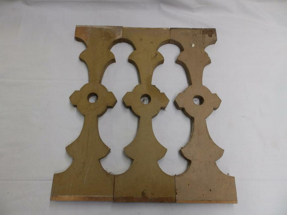 3 Antique Shabby Flat Wood Porch Baluster Decorative Chic